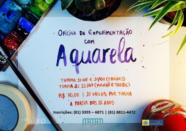Cartaz Oficina de Exp com Aquarela